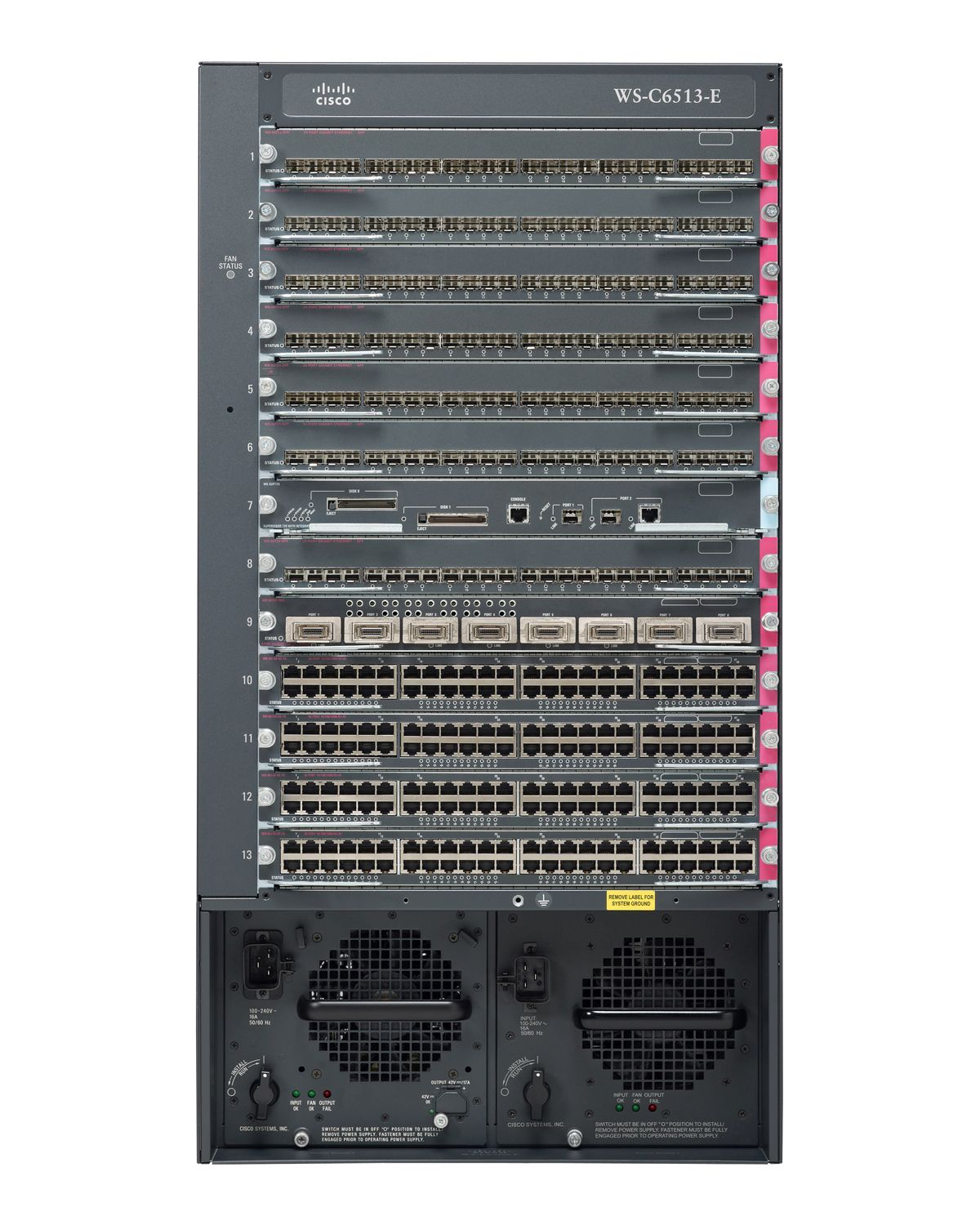Ws C6513 E 6500 Series Chassis 6500 Series Switches